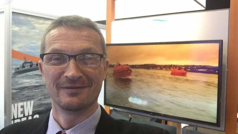 HALPIN flies the NMCI and Ireland Flags at Nor Shipping 2017
